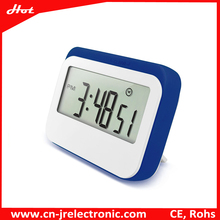 Executive desk clocks silicon band protective digital snooze alarm clock with digital numbers