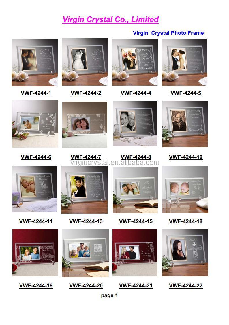 Klar Graviert Liebe Rahmen Glas Bilderrahmen Für Baby Geburt - Buy ...