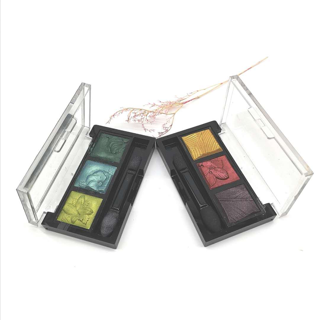 3D Eye Shadow Custom Cosmetics Makeup Multi Color Pigment Pressed Glitter Bright Eyeshadow Palette