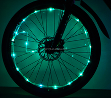 Bicycle Night Riding Safety Warning Signal Wheel LED Wire String Light color led wheel bicycle light