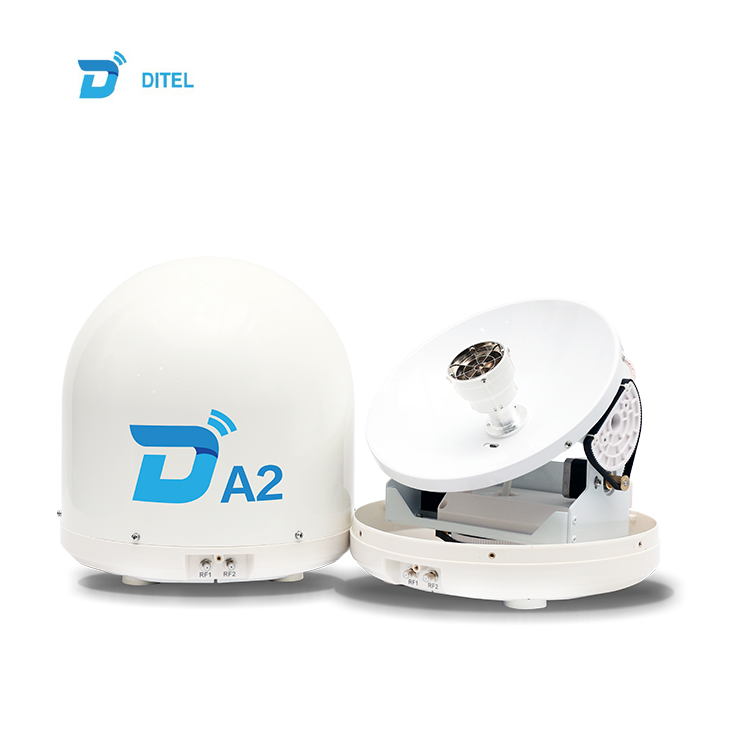 Ditel A2 28cm Ku band portable mini marine mobile satellite TVRO antenna dish system hdtv outdoor