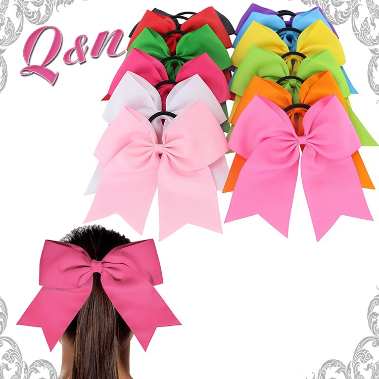 Double Layers Organza Ribbon Hair Bow Large for School Girls