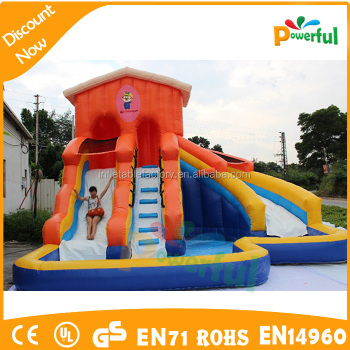 slide customized giant inflatable pool slide for adult
