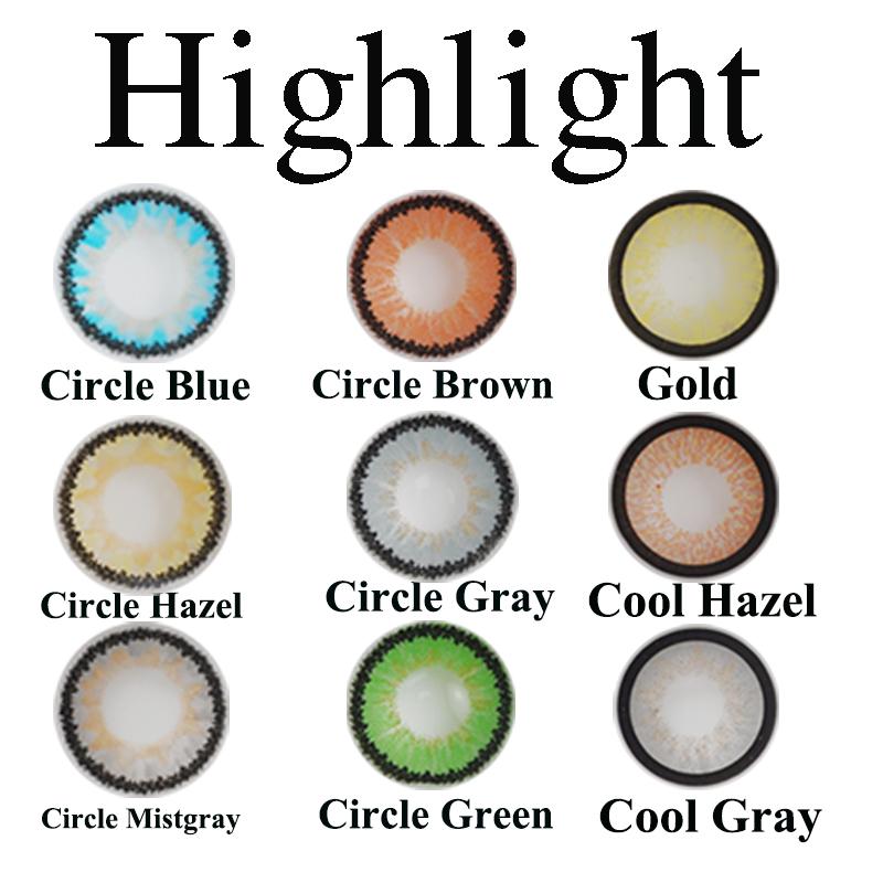 Highlight bella contact lenses 41 colors contact lenses Halloween contact lenses Crazy colored contact lenses фото