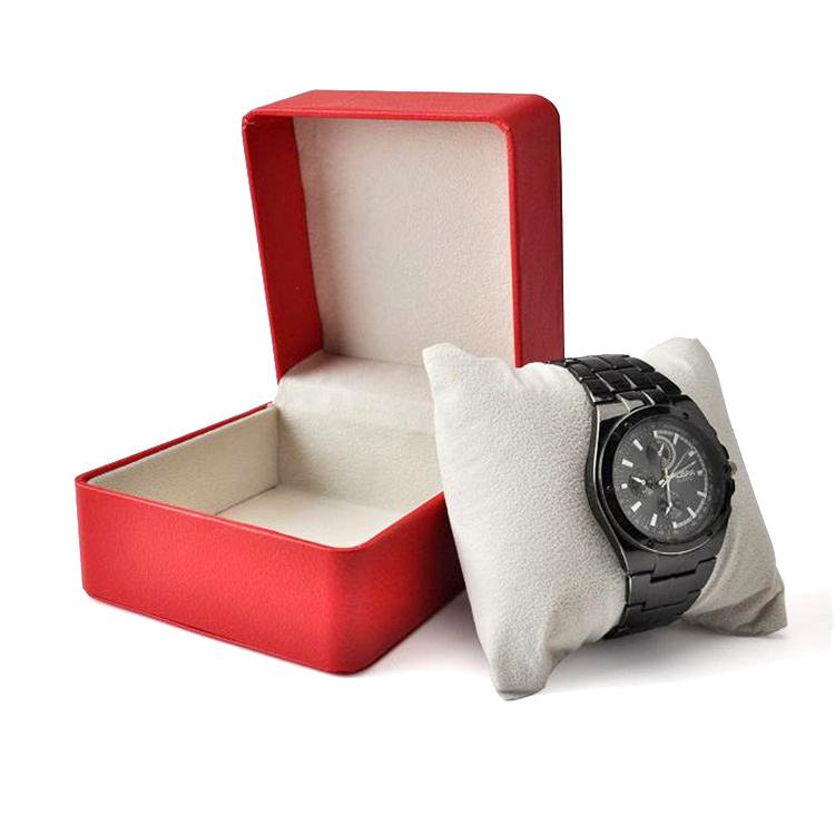 <strong>Black</strong> And Red Style Custom Logo Luxury Leather Watch Packaging Box