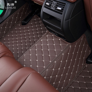 20mm thickness anti-slip coil kick carpet floor pvc printed rubber leather car mat for land cruiser lexus lx570 interior