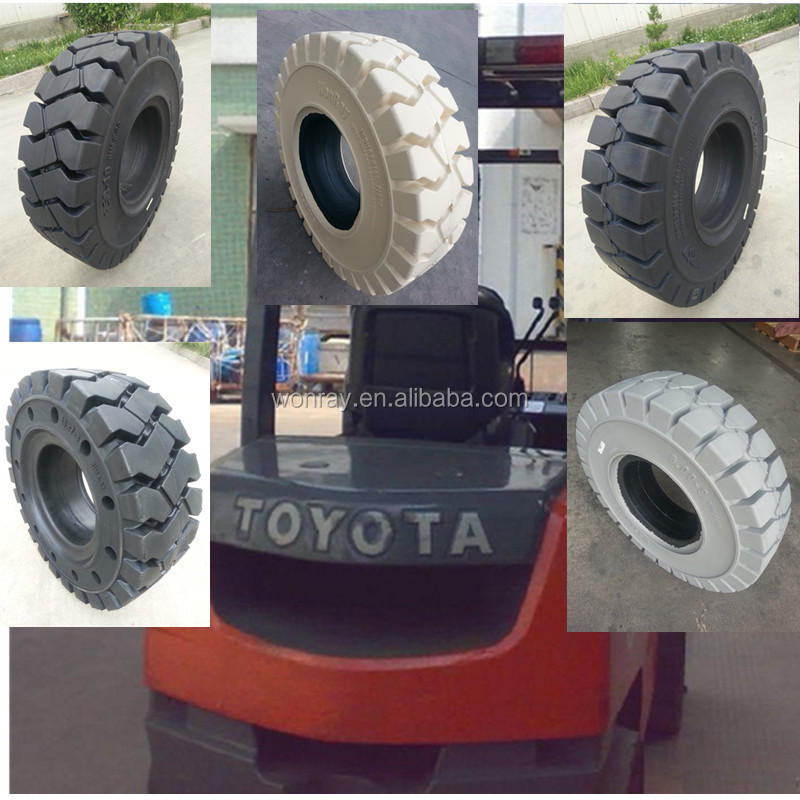 factory directly exported container forklift tyre 23*9*10 solid tyres used for dock forklift truck tire 23*10*12