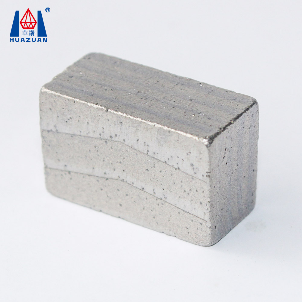 Granite Cutting Tips Diamond Saw Blade Segment Made by Advanced Brazing Machine