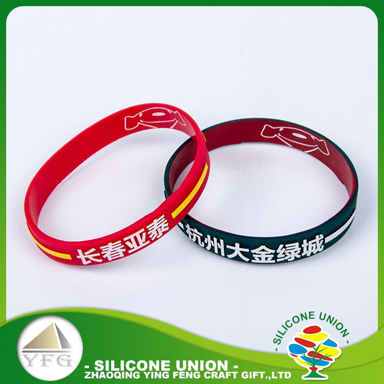 Top selling silicone custom ad logo fashionable heat new silicone bracelet