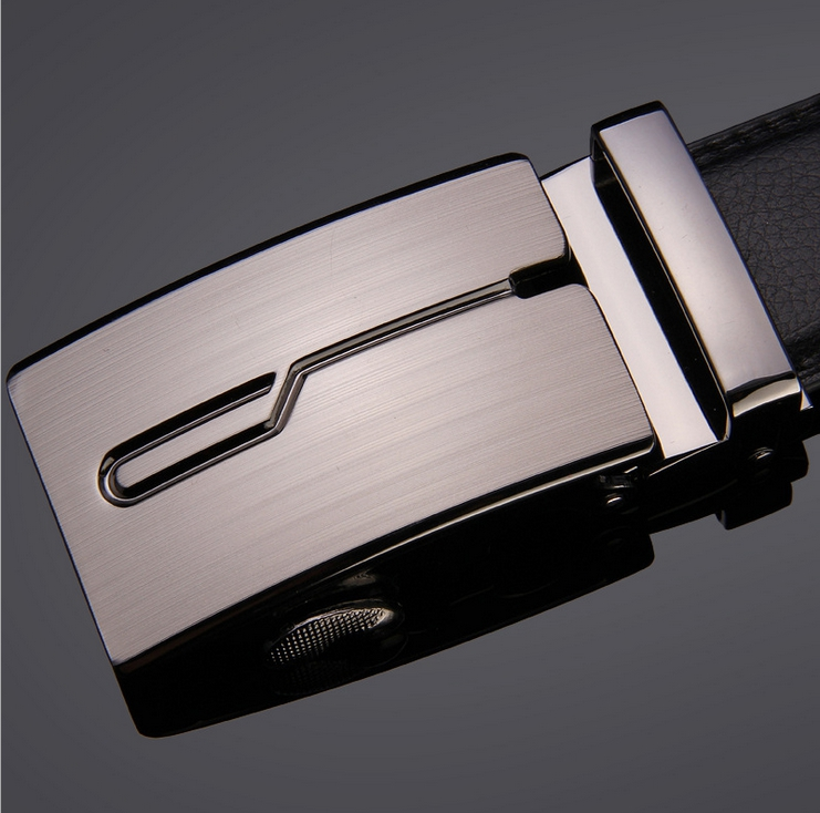 High quality man leather belt automatic buckle