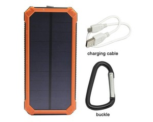 High Capacity 12000mah water resistance solar power bank for phone case