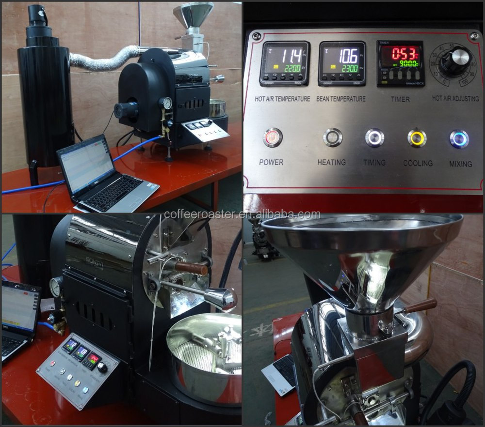 new design 1kg electric&gas coffee roasting equipment for home shop