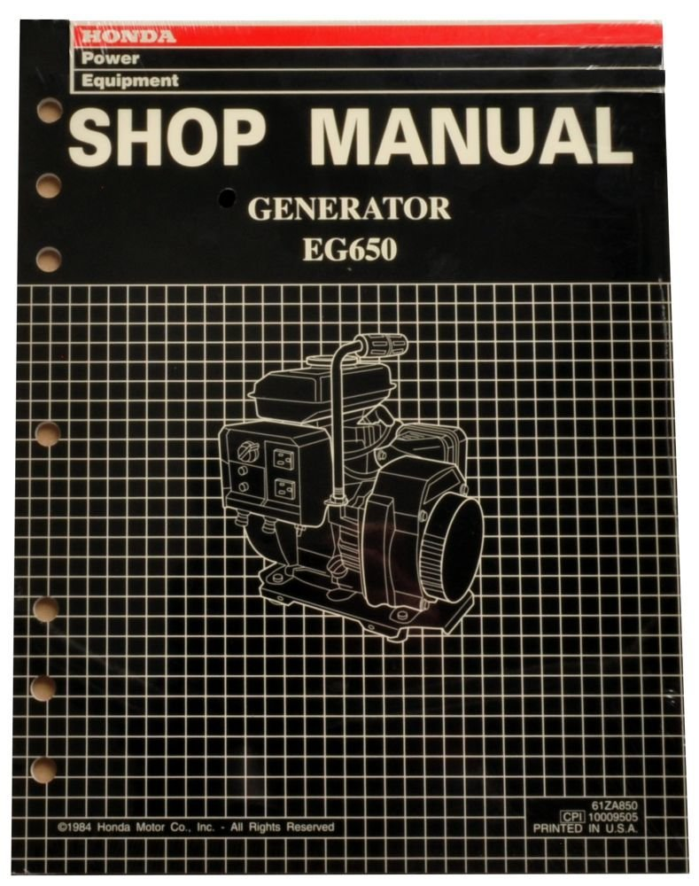 Honda EG650 Generator Service Repair Shop Manual