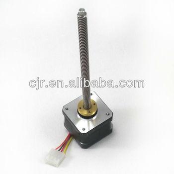 Threaded rod nema 17 stepper motor buy mini stepper for Threaded shaft stepper motor