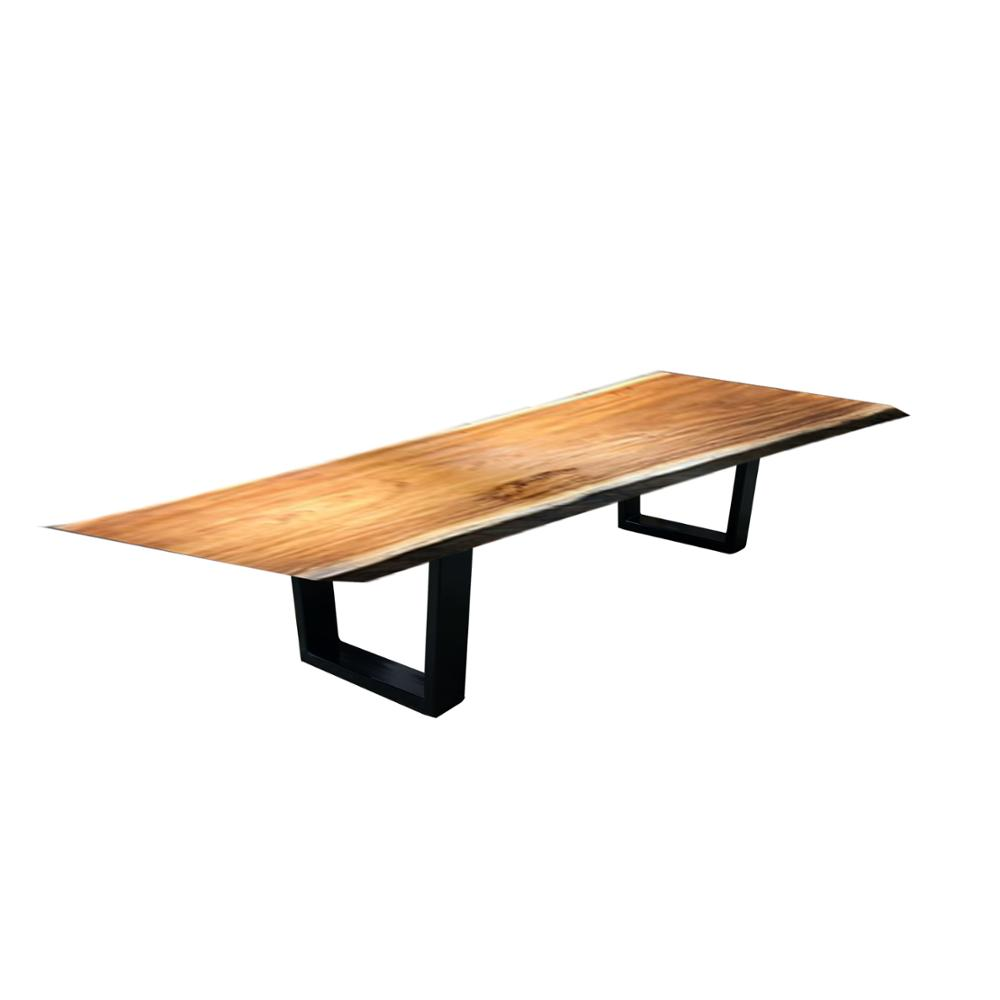 Wood Rustic Dining Table Zebra One Piece