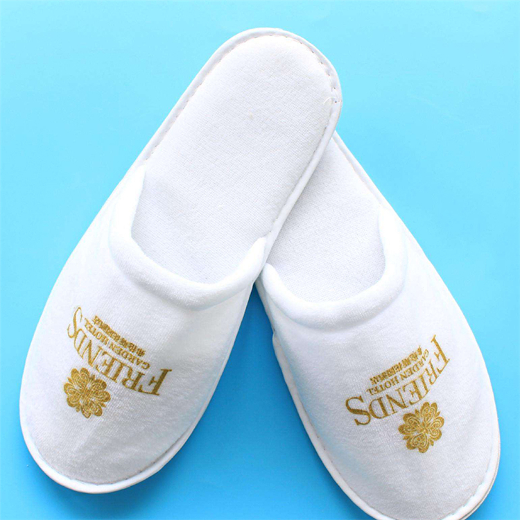 Disposable embroidery Personalized Hot sale Terry Towel Eva Sole hotel slippers