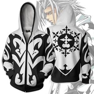 Kingdom Hearts 3D Cosplay Hoodies Men Long Sleeves Sweatshirts Fashion Zipper Hooded