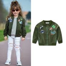 0057a35db4e2 Primavera Bambini Giacca Ragazze Verde Dell esercito Giacche Vestiti Per  Bambini Outwear per le Ragazze