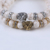 Natural 8mm stone bead charm bracelet