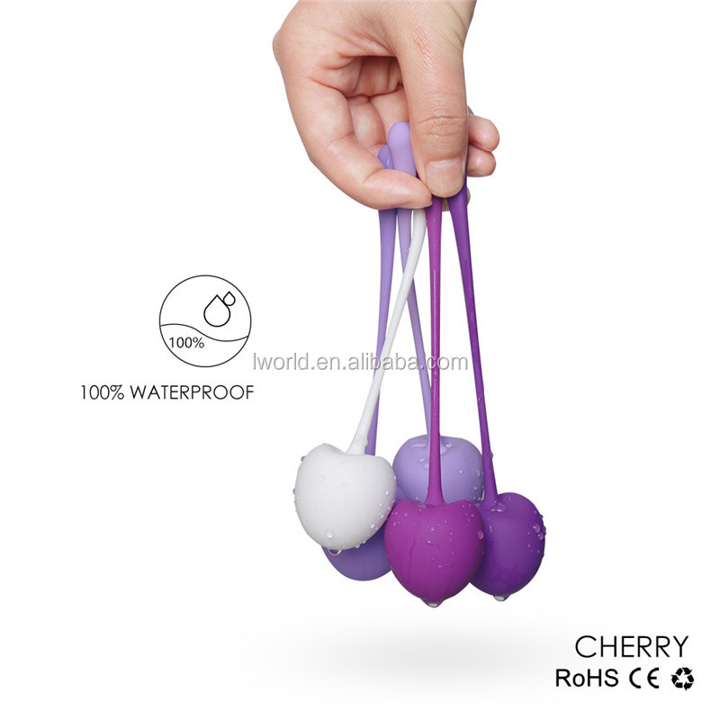 Cherry shaped kegel balls build-in high quality steel exercise ball sex toy penis jumping ball