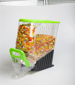 Top Selling plastic candy dispenser/ Food Organizer Box /Gravity Feed Bulk Dispenser