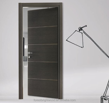 Flush Doors Designs modern interior doors by dayoris doors panels Flush Wood Door Design With Aluminum Strips Decoration