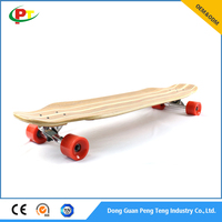 "38""x9.75"" Customized adult longboard bamboo and maple"
