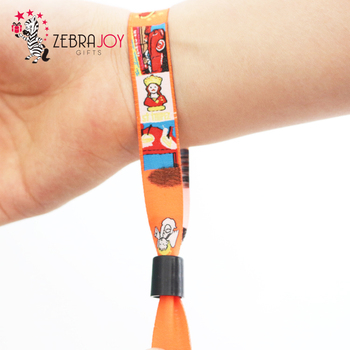 Logo Promotional Cloth Wristbands Ribbon Custom Woven Bracelets Bracelet Product On Alibaba