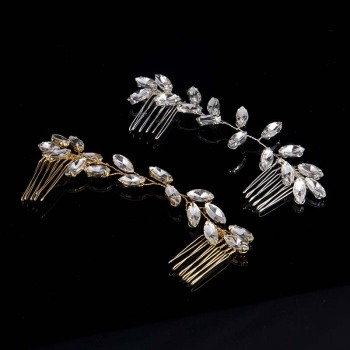 AP40003 New design luxury rhinestone alloy bride hair straightener comb accessories