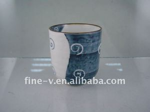 Ceramic Japanese/Korean cup without handle