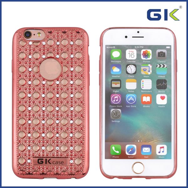 [GGIT] Luxury No Clamping Line With Agate Diamond Design TPU Phone Case For IPhone 6 Back Cover
