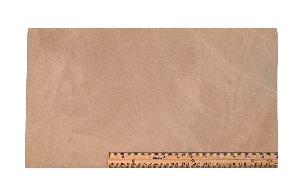 "Scrap Leather Piece Medium Weight Boot Leather; Light Brown Desert Sand Cowhide 18"" X 10"" Piece"