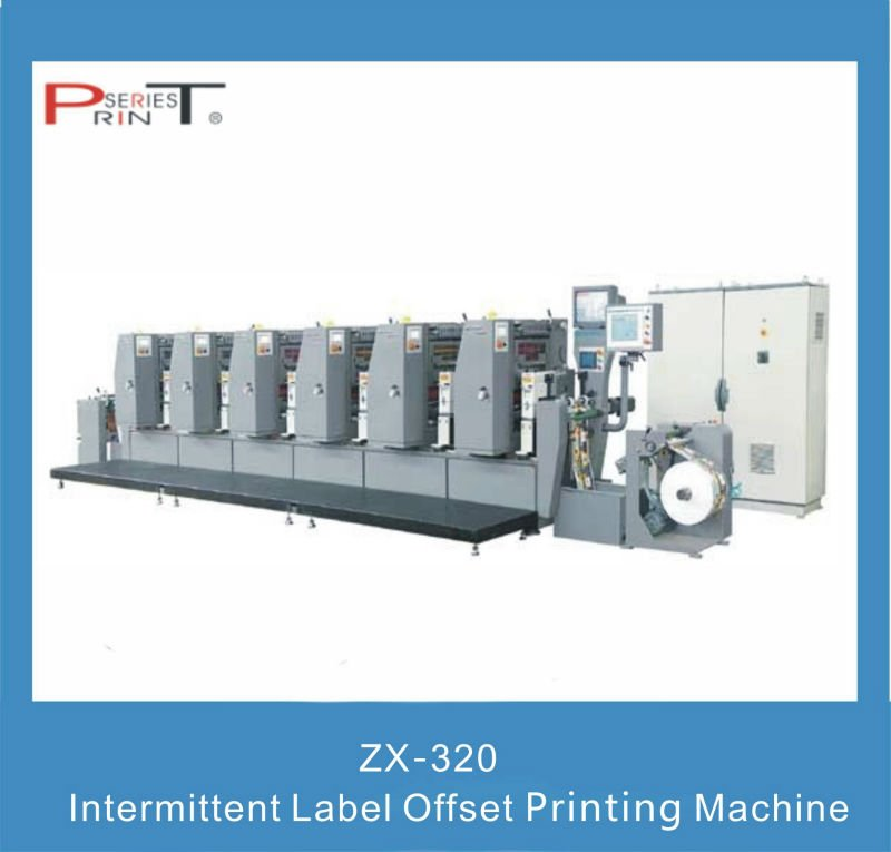 Intermittent label offset printing press