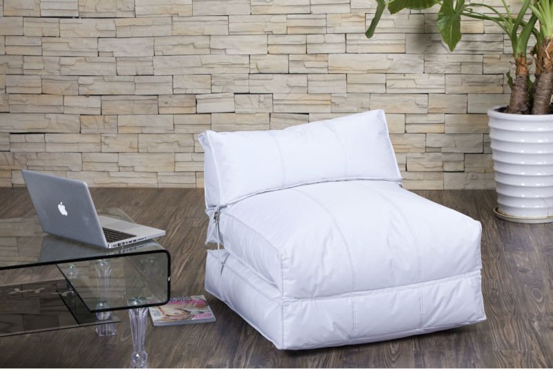 Foldable Black Bean Bag Chair Bed