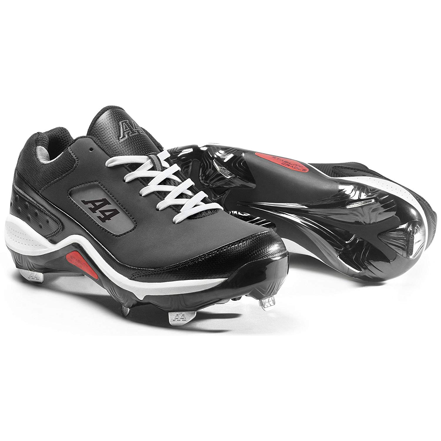 5ff1df4913a Get Quotations · Metal Pro ST Baseball Cleats (Lightweight Durable Spikes  for Babe Ruth