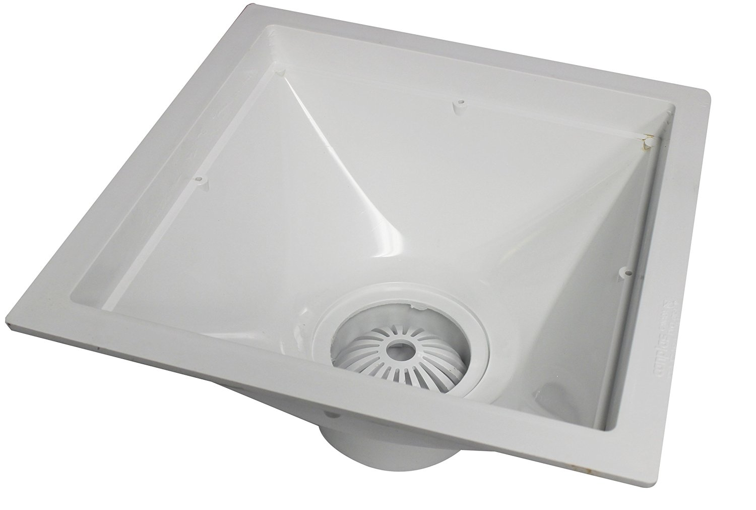 Endura 394713 12-Inch by 12-Inch by 6-Inch PVC Floor Sink for Standard Floor with 4-Inch Hub