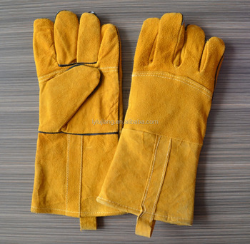 LUJIANG SAFETY 16 Inch Oil Glove Rugged Wear Auto Work Gloves Synthetic  Leather Working Glove