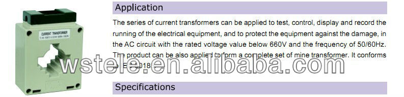 MSQ mutual inductor Current Transformer