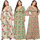 GC-66862203 2019 Sexy Summer Fashion Wholesale Floral Print Comfortable Loose Plus Size Maxi Dress African clothing