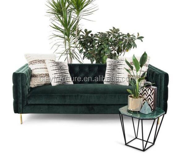 latest wood <strong>sofa</strong> furniture party stainless steel green velvet <strong>sofa</strong> wedding <strong>sofa</strong>