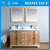 Contemporary new design furniture bathroom cabinet with double sink