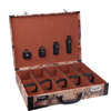 custom leather wine bottles box storage packing box 5 bottles with map and code for gift