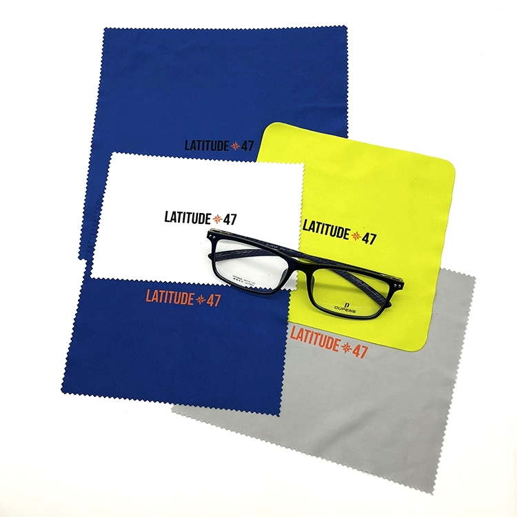 Personalized Logo Silkscreen Printed Bulk Microfiber Eyeglass Lens Cleaning Cloth, Customized color is available