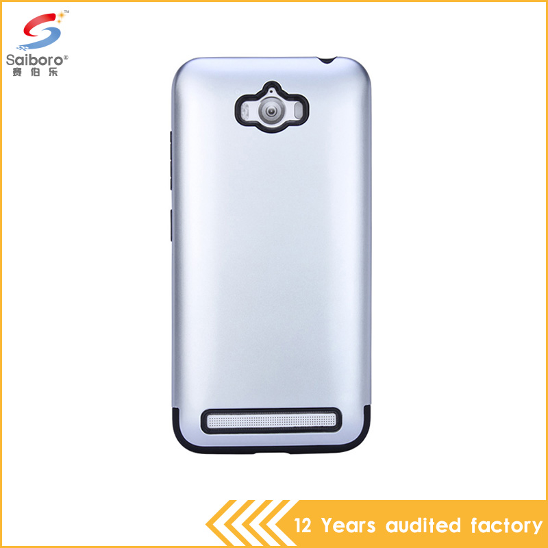 China hot selling tpu pc silver color shockproof cell phone cover for asus zenfone max case