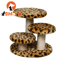 Mini Pet Cat Tree Leopard พิมพ์ Scratching โพสต์
