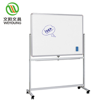 magnet whiteboard 360 degree mobile white board stand with wheels