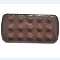 funny unique diamond shapes silicone chocolate mold tray ice mold
