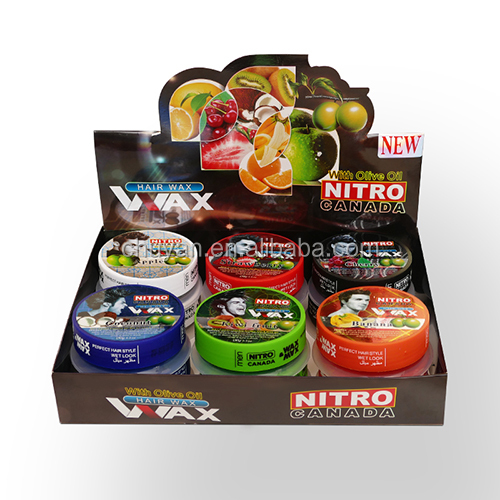 GMPC hot selling strong hold nitro canada hair wax olive oil hair styling gel