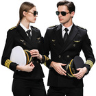 Classical American Airlines Sexy Women Airline Captain uniforms Airline Pilot Uniform With Shoulders