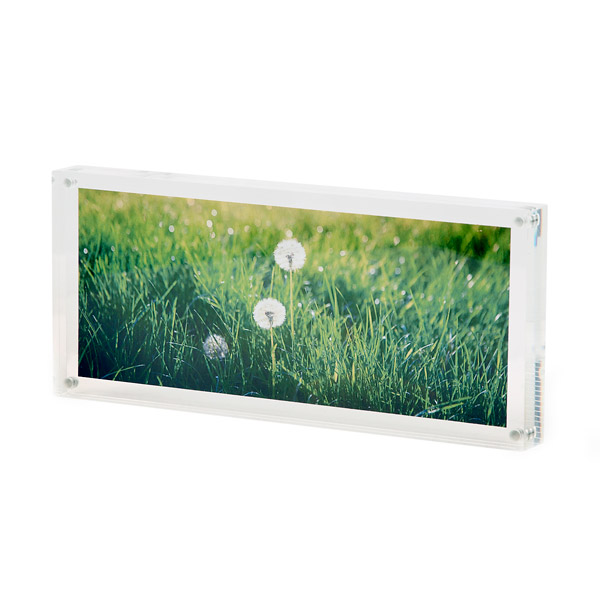 Rectangular Clear Photo Holder,Acrylic Picture Frame With Magnets ...